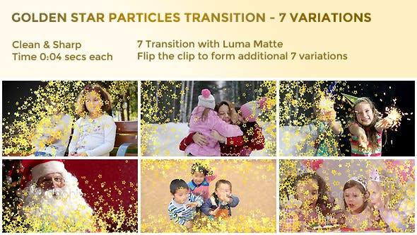 Thumbnail for Golden Star Particles Transition – 7 Variations