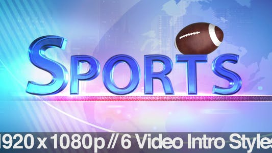 Cover Image for TV News Program Segment - Sports - 6 Styles