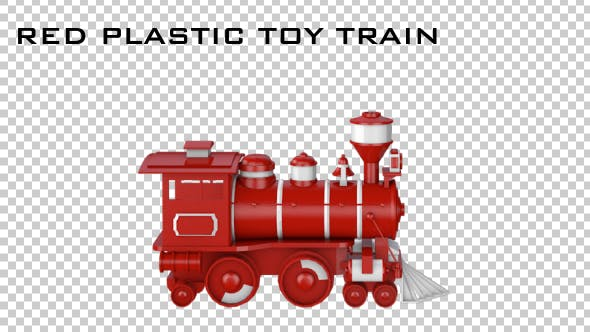 Thumbnail for Red Plastic Toy Train