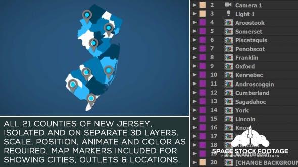 New Jersey Map Kit