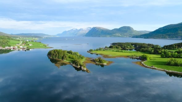Cover Image for Aerial Footage Beautiful Nature Norway
