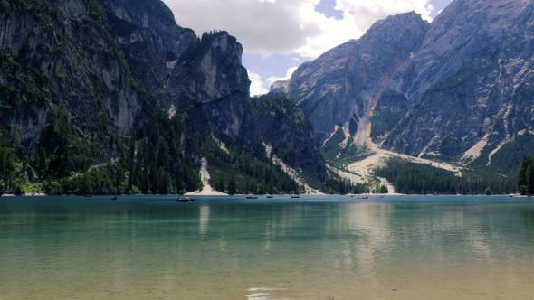 Cover Image for Lake Lago Di Braies in Dolomites, Italy Alps