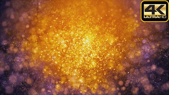 Thumbnail for Golden Fantasy Particles Background