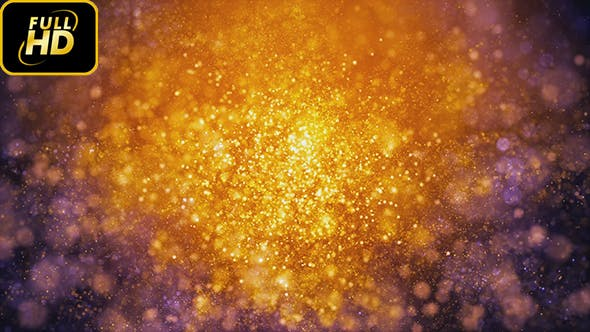 Cover Image for Golden Fantasy Particles Background