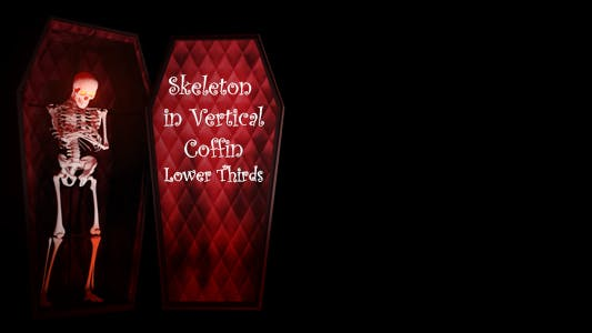 Thumbnail for Skeketon In Vertical Coffin Lower Thirds
