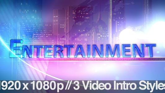 Thumbnail for TV News Program Segment - Entertainment - 3 Styles