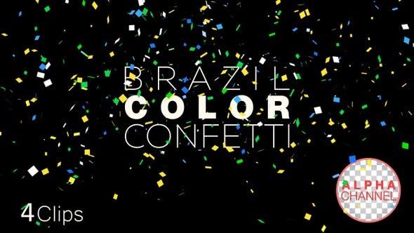 Brazil Color Confetti
