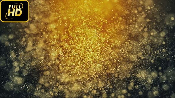 Thumbnail for Golden Particles Background