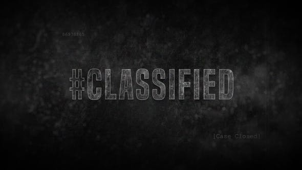 Thumbnail for Crime Title Sequence / Credits - Classified Detective