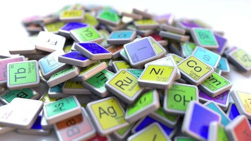Oxygen Block on the Pile of Periodic Table of the Chemical Elements Blocks