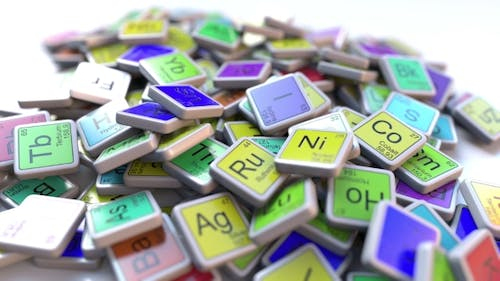 Argon Block on the Pile of Periodic Table of the Chemical Elements Blocks