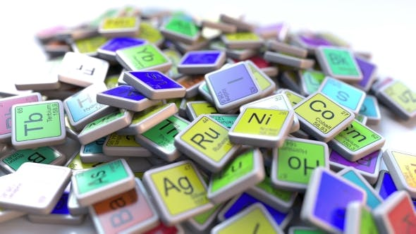 Gallium Ga Block on the Pile of Periodic Table of the Chemical Elements Blocks