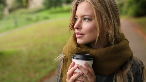 Contemplating Over Coffee Girl