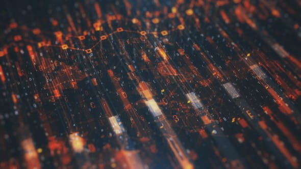 Thumbnail for Technological Orange Looped Background HD