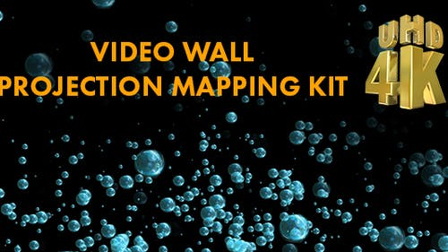 Air Bubbles Video Mapping 4K