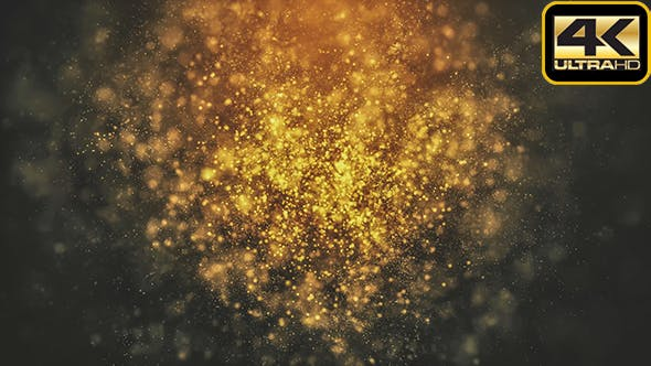Thumbnail for Cinematic Golden Particles Loop