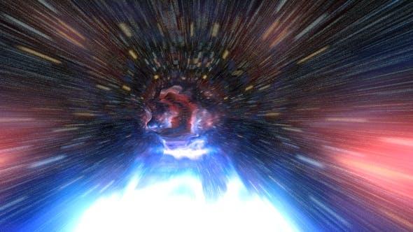 Space Travel Fly Through Galaxy