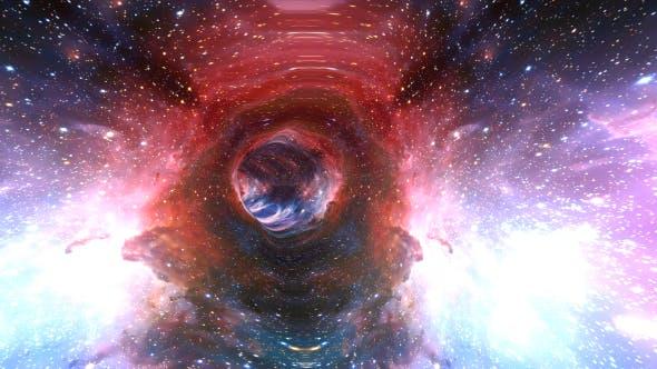 Space Travel Fly Through Galaxy 4K