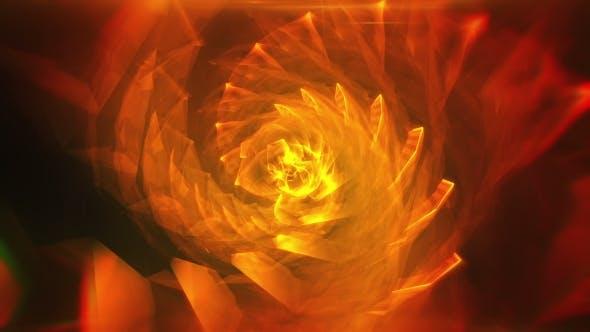 Thumbnail for Orange abstrakter hypnotischer Hintergrund