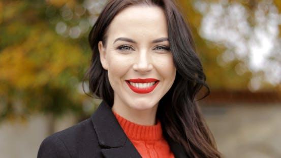 Woman with Vivid Makeup