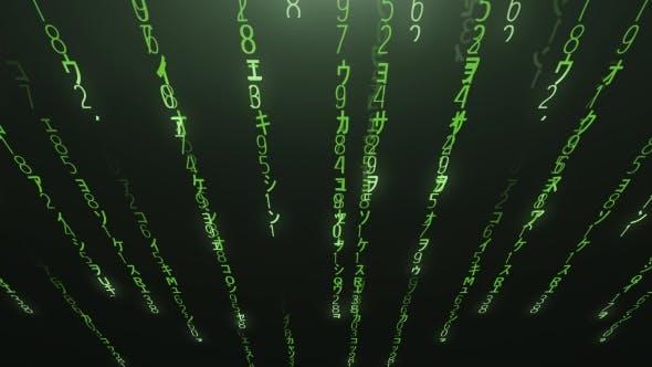 Thumbnail for Fallender grüner Matrix-Code