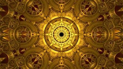 Golden Mechanical Tunnel