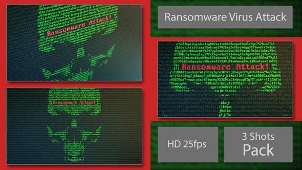 Thumbnail for Skull Ransomware Attack with Random Letters and Numbers -  on a Computer Screen