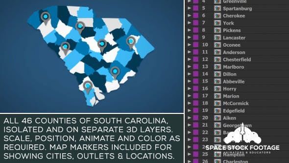 Thumbnail for South Carolina Map Kit