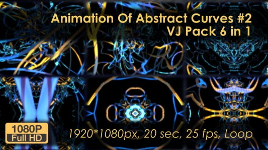 Thumbnail for Animation VJ Pack Of Abstract Curves