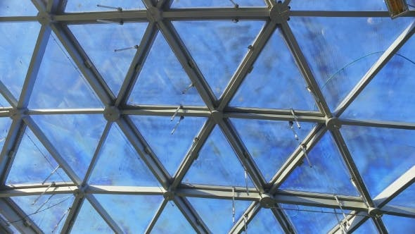 Thumbnail for Glass Roof of Building with Views of the Sky