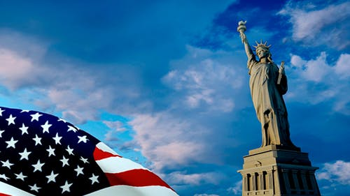 Flagge und das Symbol Amerikas