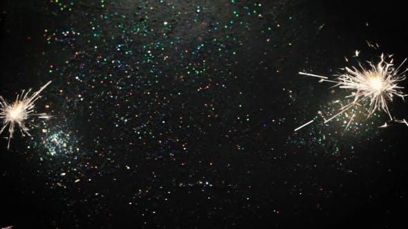 Thumbnail for Firework Sparkler Lights on Glittering Background