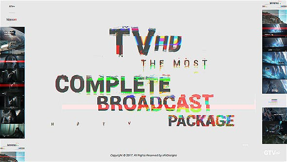 Glitch TV Complete Broadcast Graphics Package