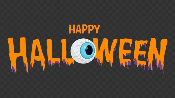 Thumbnail for Happy Halloween Animation Text