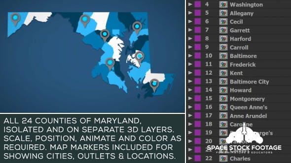 Maryland Map Kit