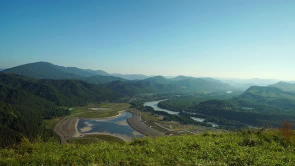 Thumbnail for Altai Valley, Mountains And Kutun River In Altai, Russia