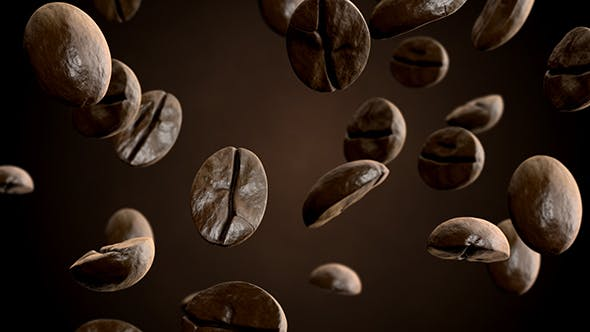 Thumbnail for Roasted Coffee Beans Falling Down