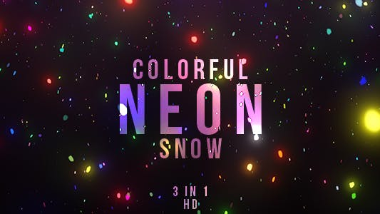 Thumbnail for Colorful Neon Snow