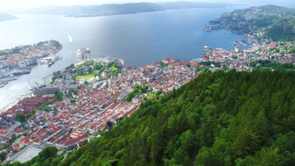 Cover Image for Bergen Is a City and Municipality in Hordaland on the West Coast of Norway.