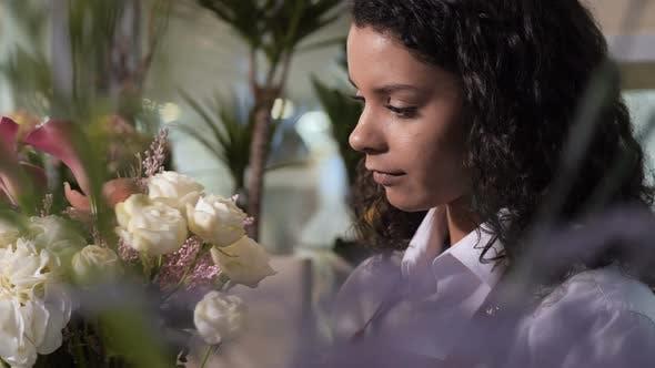 Thumbnail for Florist Making Gorgeous Bouquet in Flower Shop