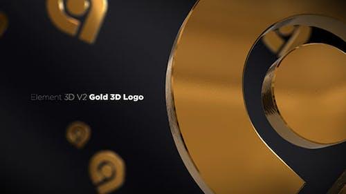 Gold 3D Logo Opener
