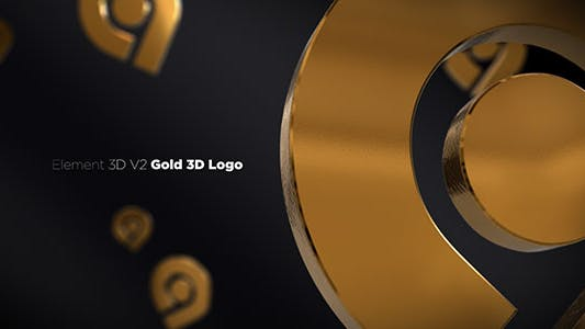 Thumbnail for Ouvre-Logo 3D Or
