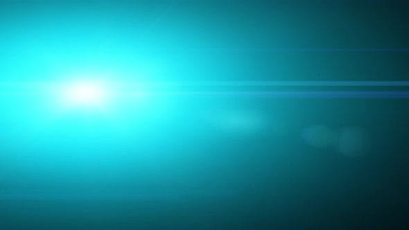 Anamorphic Optical Lens Flares Flashing. Cinematic look
