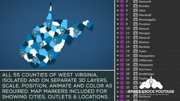 West Virginia Map Kit