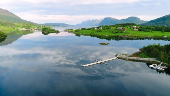 Cover Image for Aerial Footage of Beautiful Nature Norway
