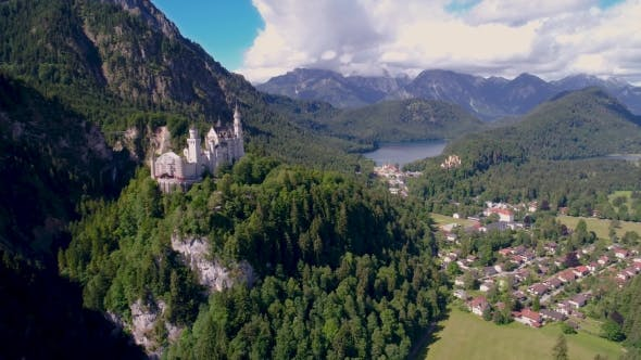Thumbnail for Neuschwanstein Castle in Bavarian Alps in Germany