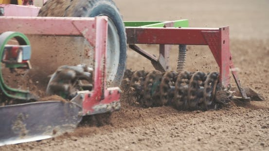Thumbnail for Agricultural Tractor Sowing Field