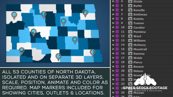 Thumbnail for North Dakota Map Kit