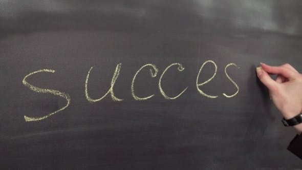 Thumbnail for Hand Writes the Word Success