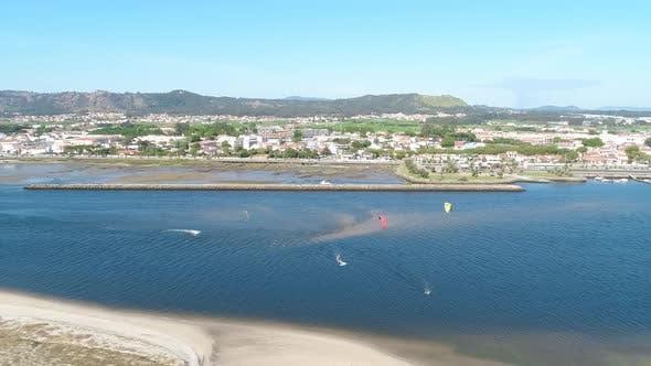 Thumbnail for Kite Surfing in Blue Ocean